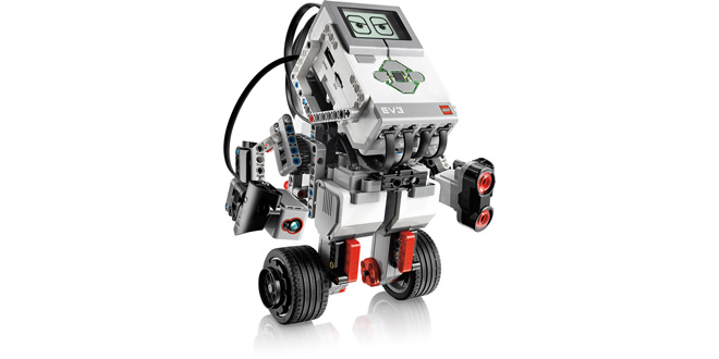 Lego Mindstorms EV3 - showing off balancing robot using gyroscope - GyroBoy